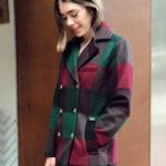 abrigo cuadros sesfashion tienda de ropa de mujer
